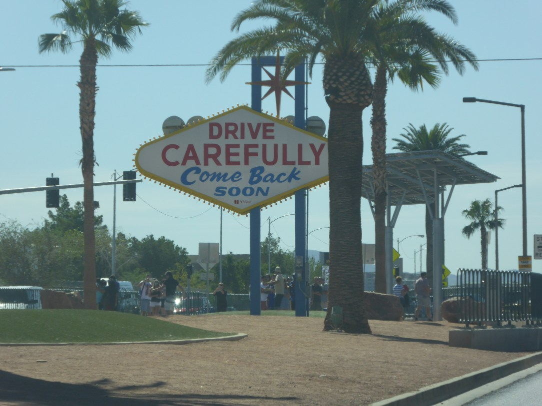 Back of the Las Vegas sign