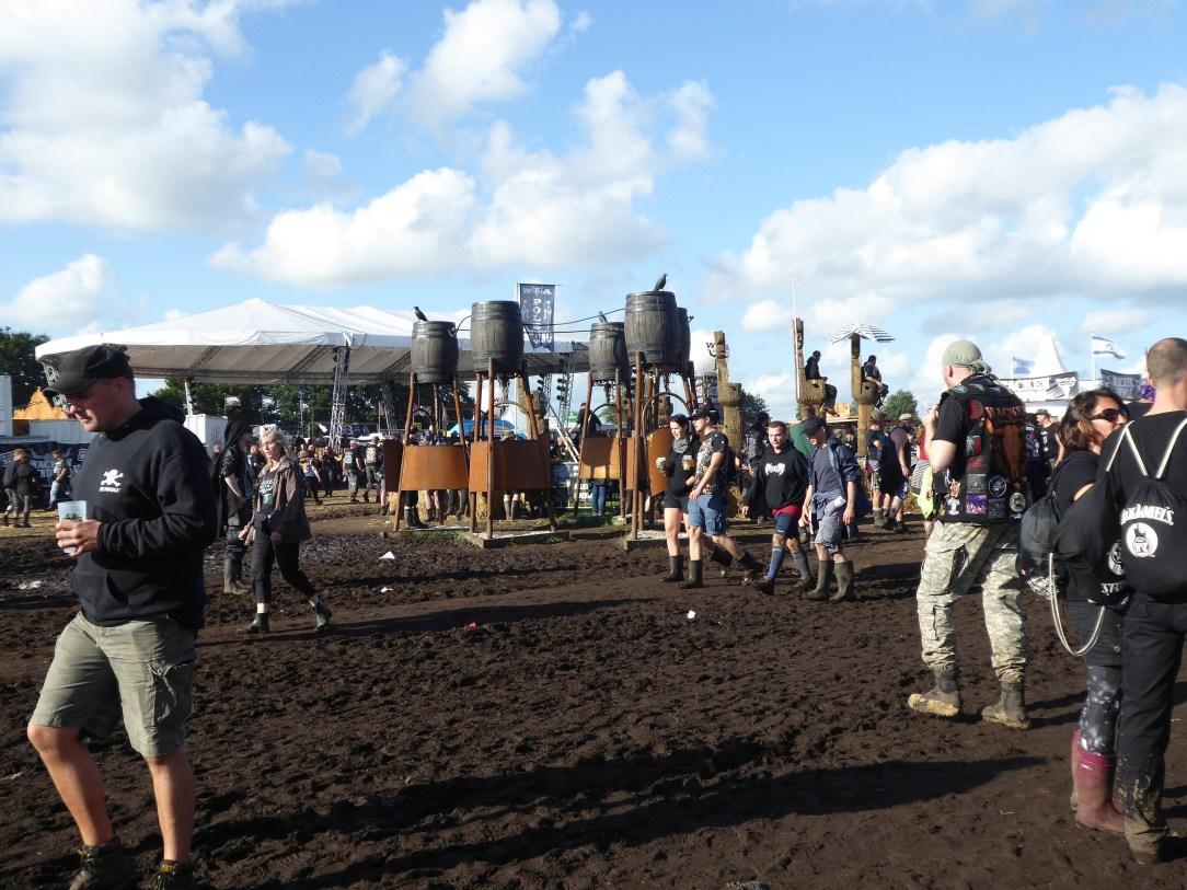 Showers at Wacken Open Air heavy metal festival, Germany