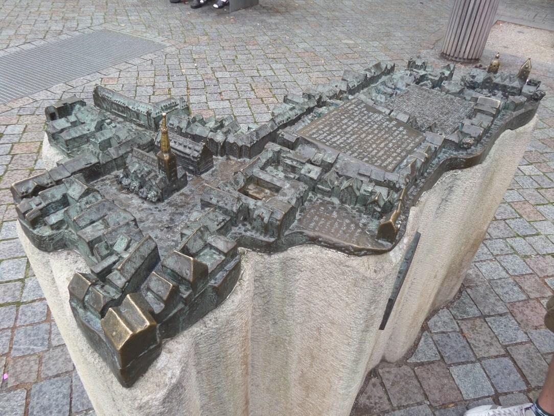 Sculpture of the town Hamelin in Hamelin Germany