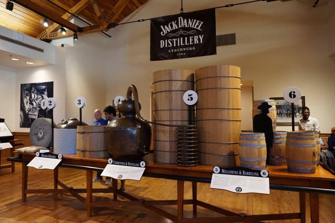 The distilling process explained at the Jack Daniel Distillery, Lynchburg TN