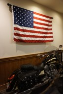 Motorbike and USA flag