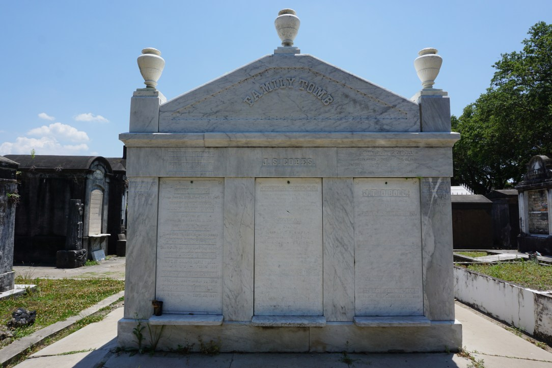 Large family tomb with multiple names, Lafayette Cemetery No1, New Orleans