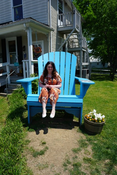 Sitting in the big blue chair in Lynchburg TN