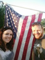 Selfie with USA flag