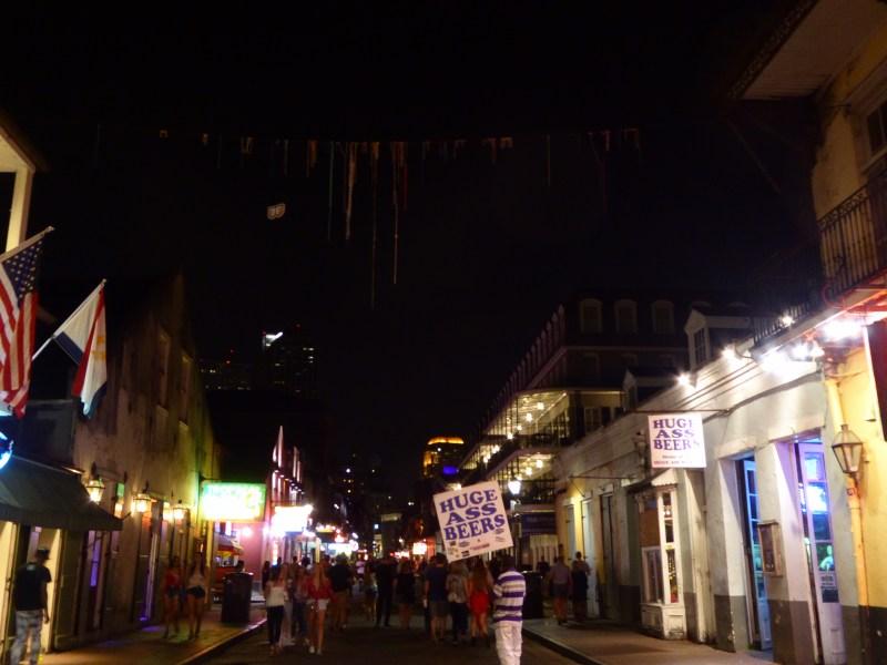 Bourbon Street by night