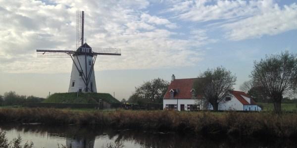 Windmill in Damme, Belgium