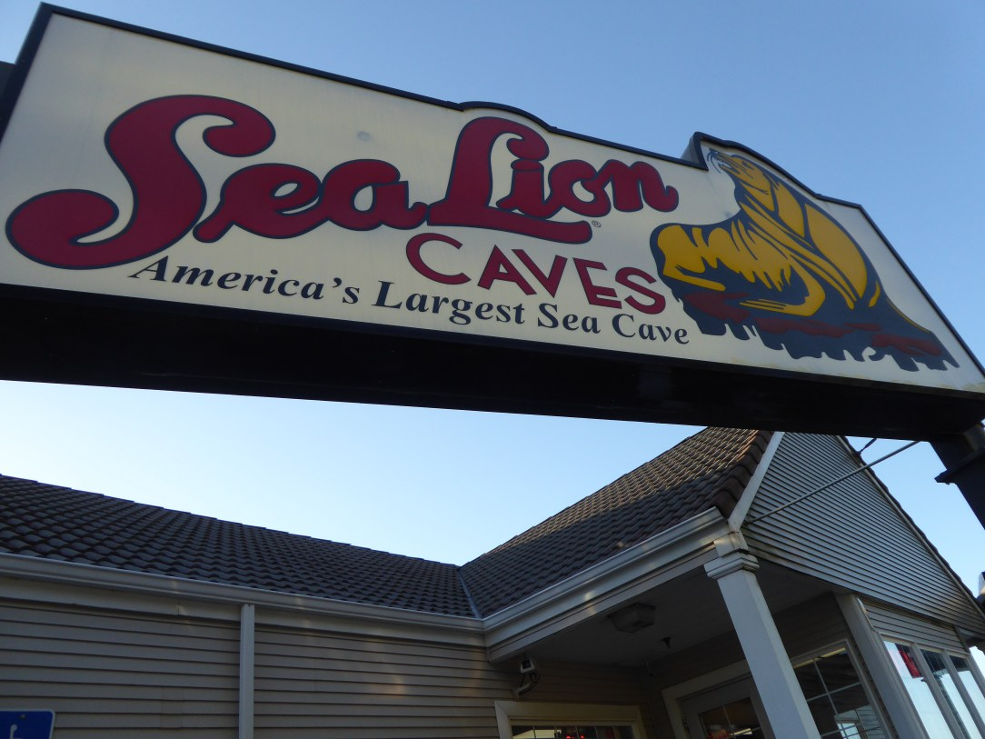 Entrance to the Sea Lion Caves in Oregon