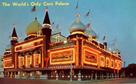 South Dakota Corn Palace Postcards