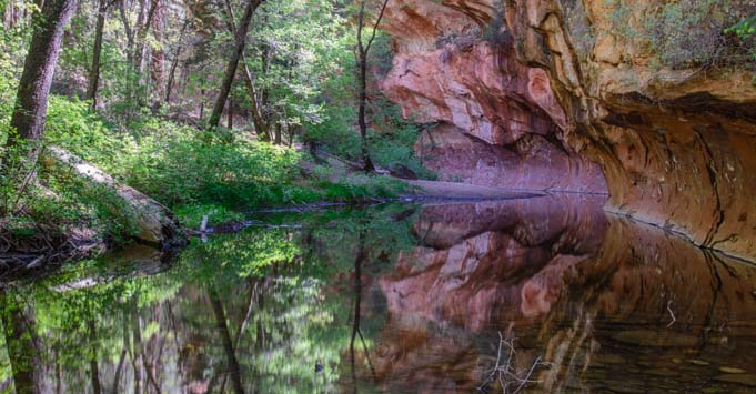Sedona Reflections on the West Fork Trail