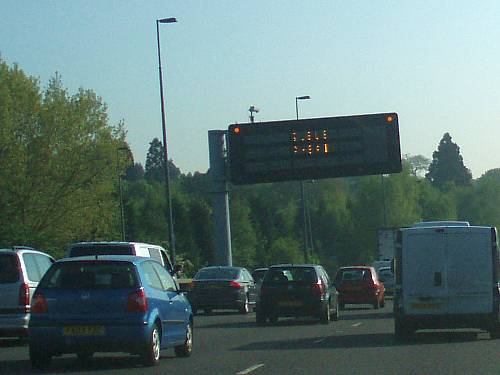 commuter traffic on the a3 to london england by roadsofstone