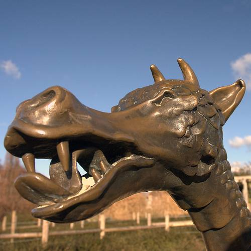 dragon in horsham park maze west sussex england by captain tarmac flickr