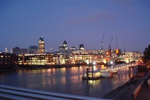 autumn dusk above the city london england by roadsofstone