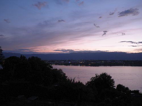 summer sunset from cologny switzerland lake geneva jura mountains by roadsofstone