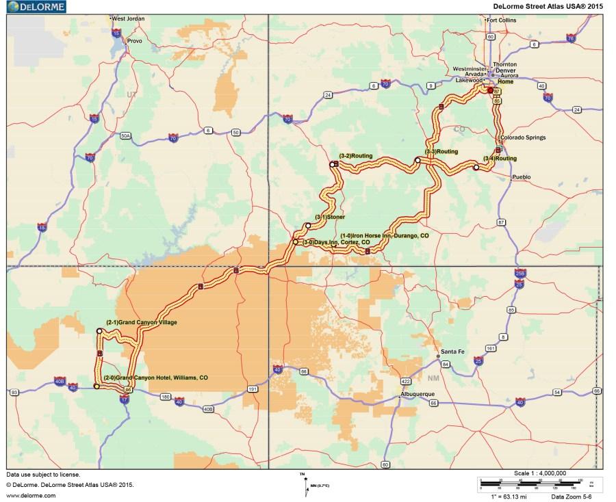 DeLorme 2-D Map Document