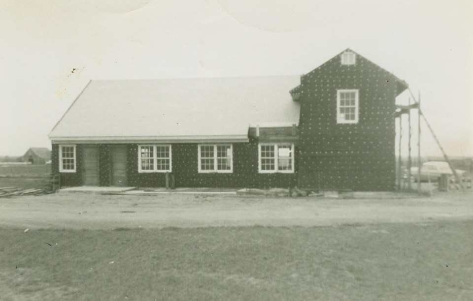 Construction of the Church of the Nazarene, Eldorado, Oklahoma