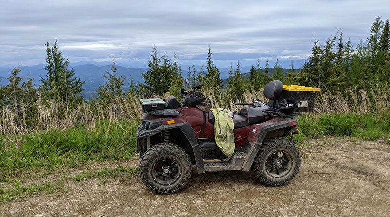 ATV with mountain view