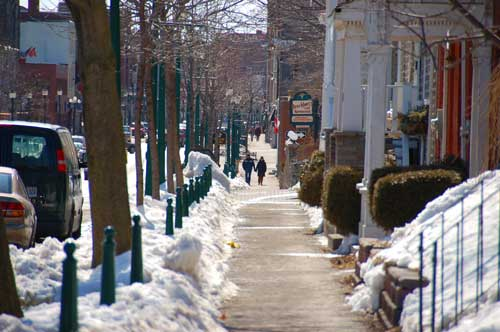King Street in Brockville, Ontario. Winter, 2009.