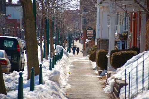 King Street in Brockville, Ontario. Winter, 2009.