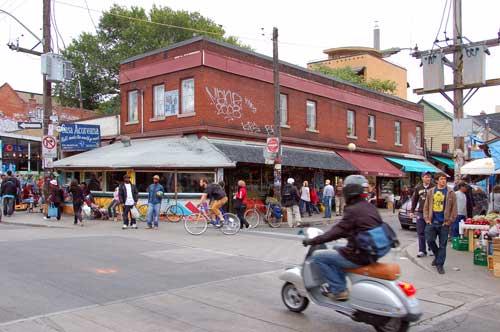 Casa Acoreana on a busy Saturday in Kensington Market