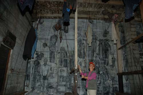 Bath house at the Atlas Coal Mine – creepy!