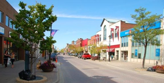 Downtown North Bay Ontario streetscape