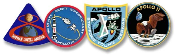 logos from Apollo 9 to 11