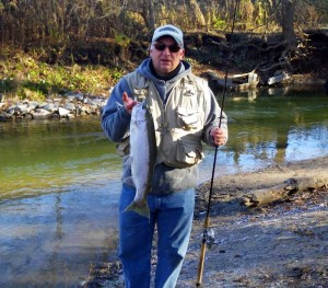 Peter Wasag with steelhead trout