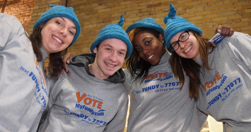 four people promoting VoteMyFundy