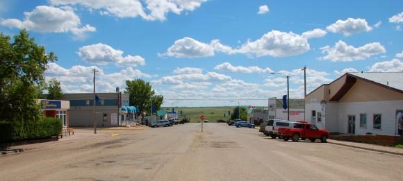 main street Consort Alberta