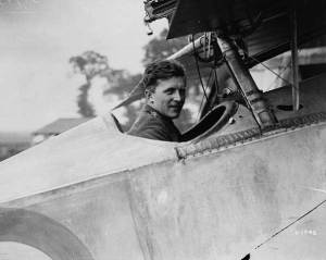 Billy Bishop in cockpit