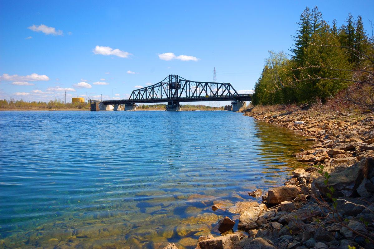 The Little Current Swing Bridge on Manitoulin Island
