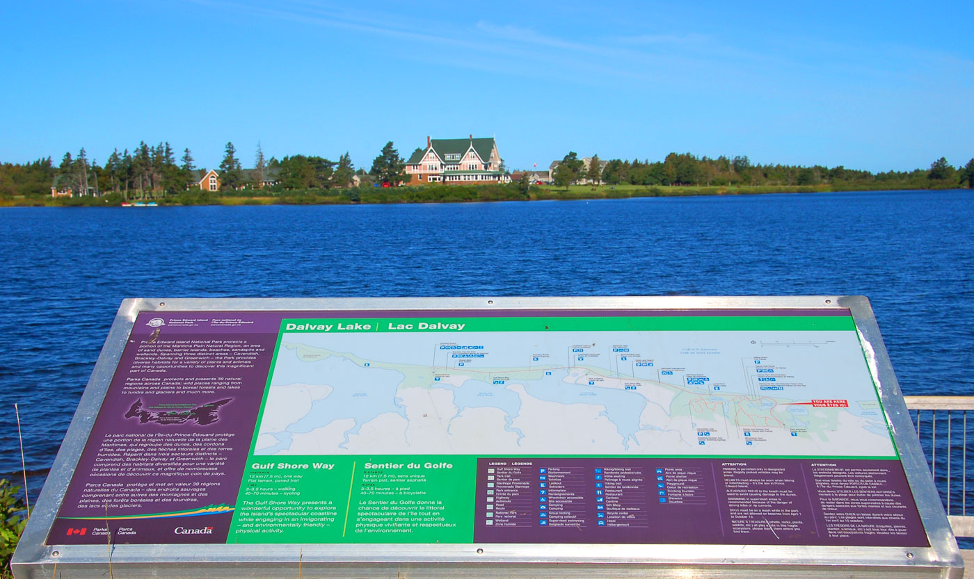 Prince Edward Island National Park plaque