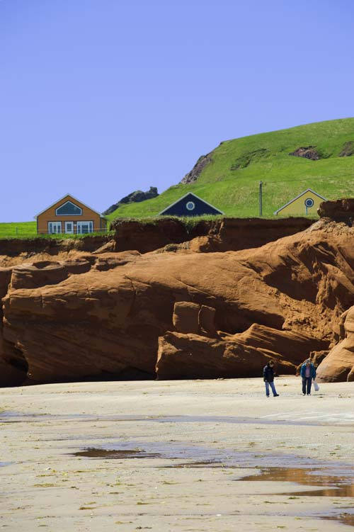 beach on the Îles de la Madeleine