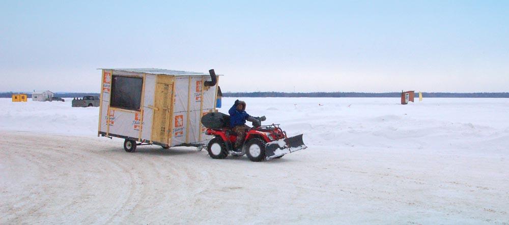 ATV-pulling-ice-hut