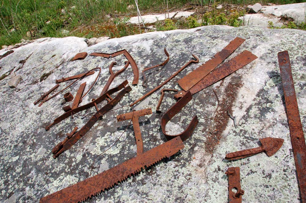 old rusted metal tools