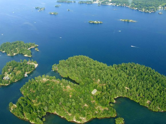 aerial view Thousand Islands