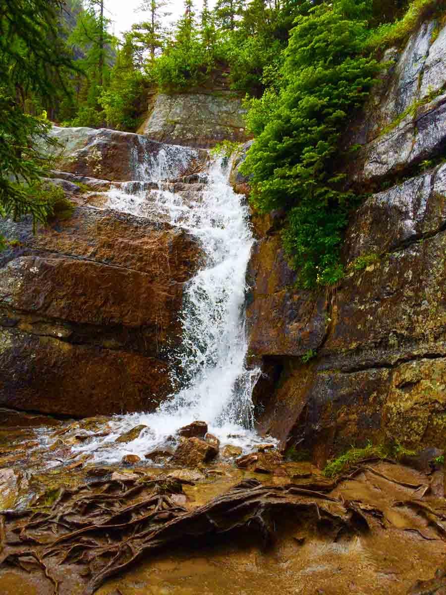 waterfall at Lake Agnes Tea House