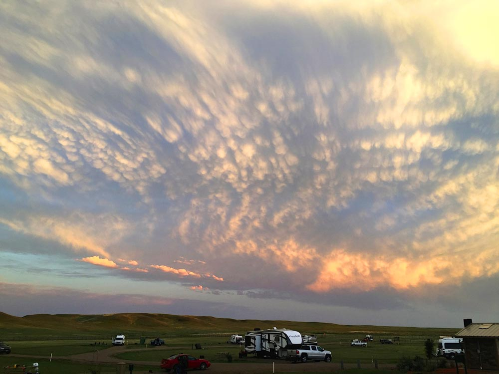Camping in Grasslands National Park, Saskatchewan