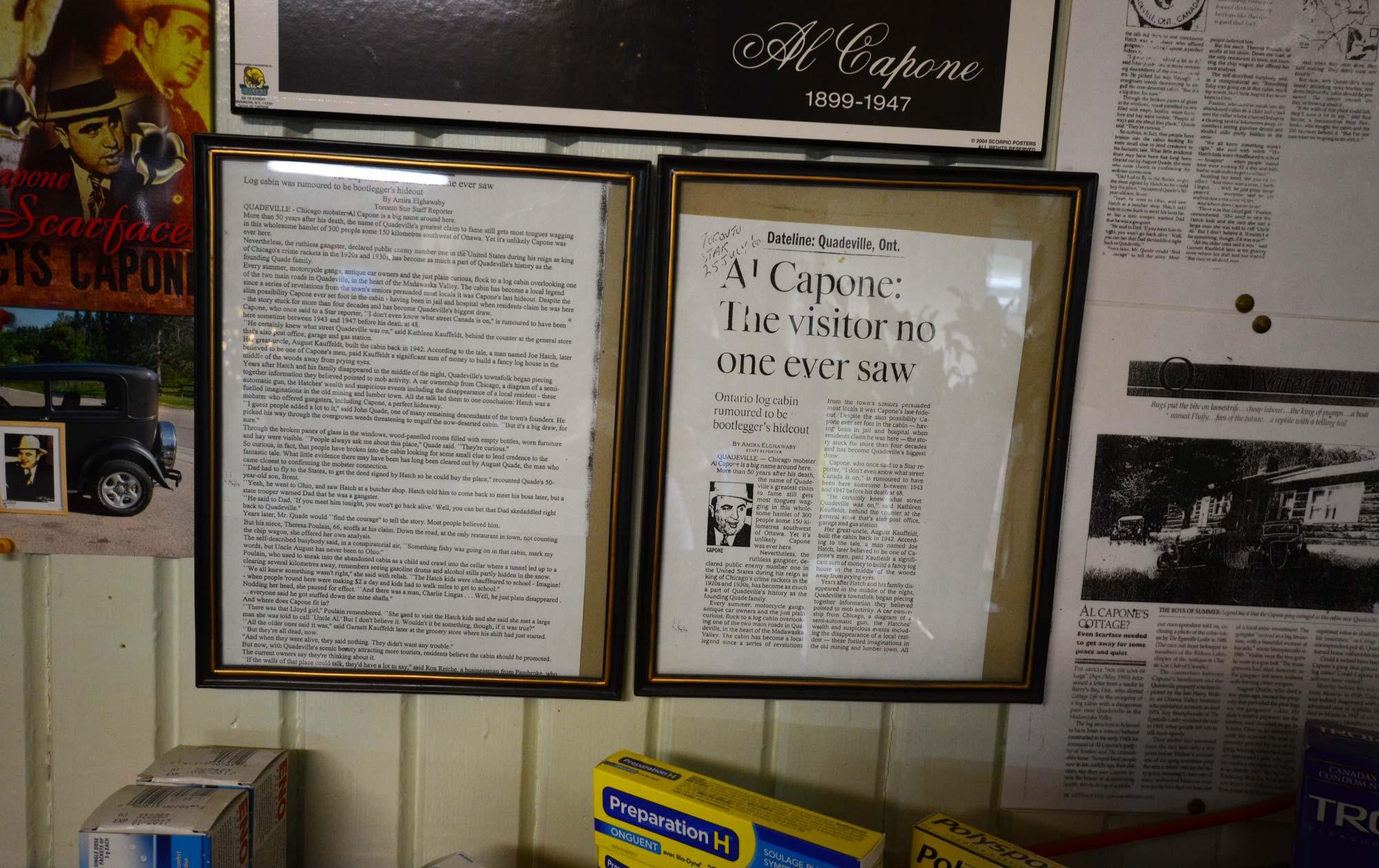 Al Capone at Kauffeldts Grocery in Quadeville