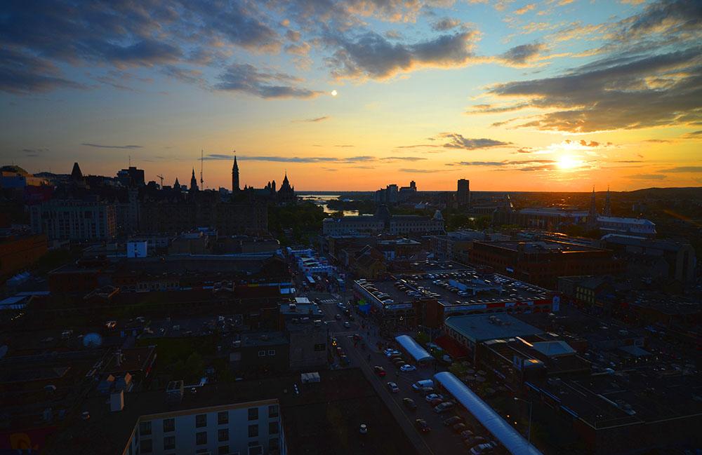 Ottawa sunset at night