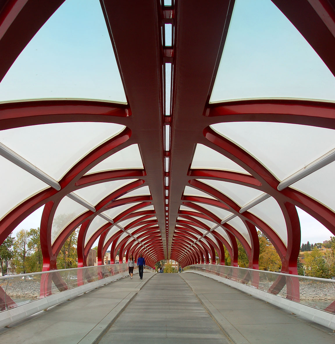 Peace Bridge Calgary trails