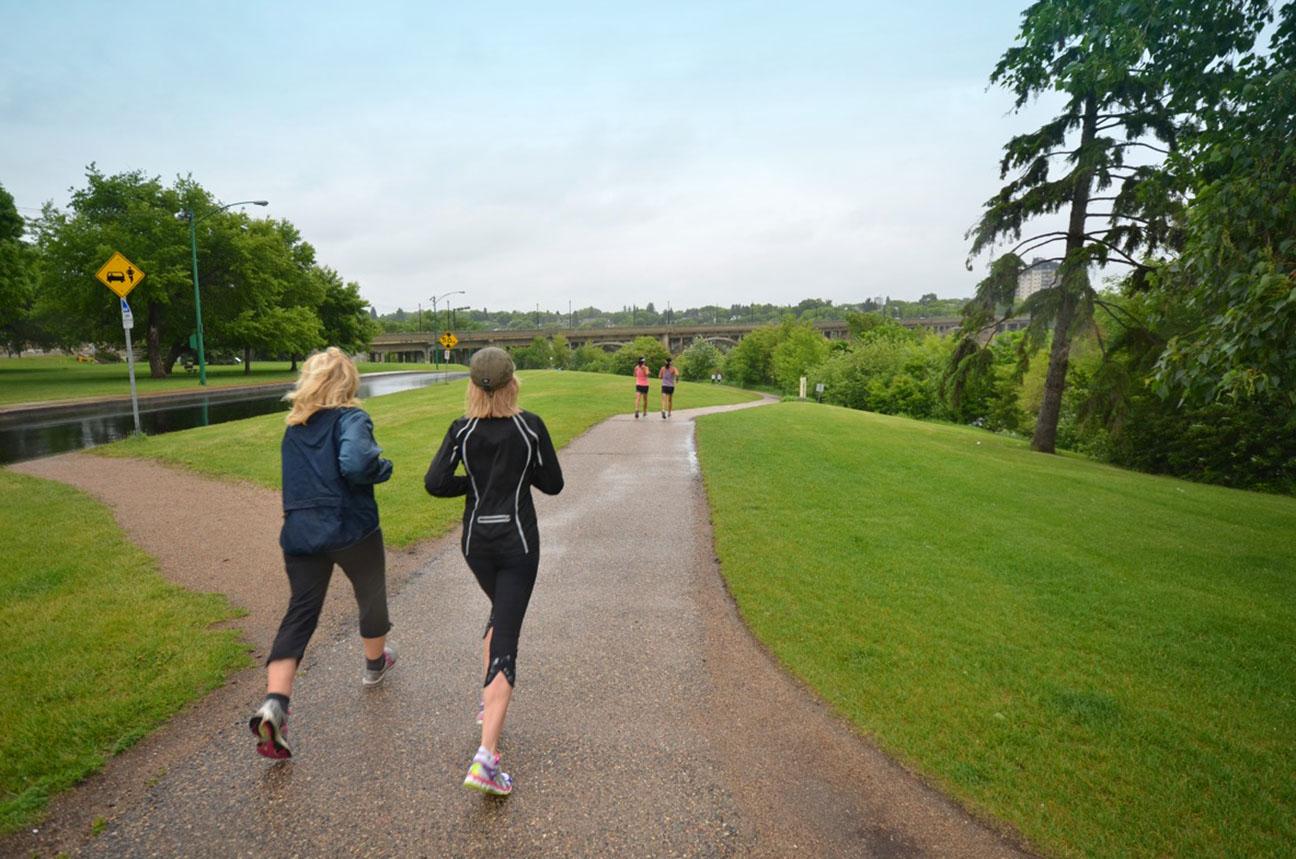 Saskatoon trails joggers