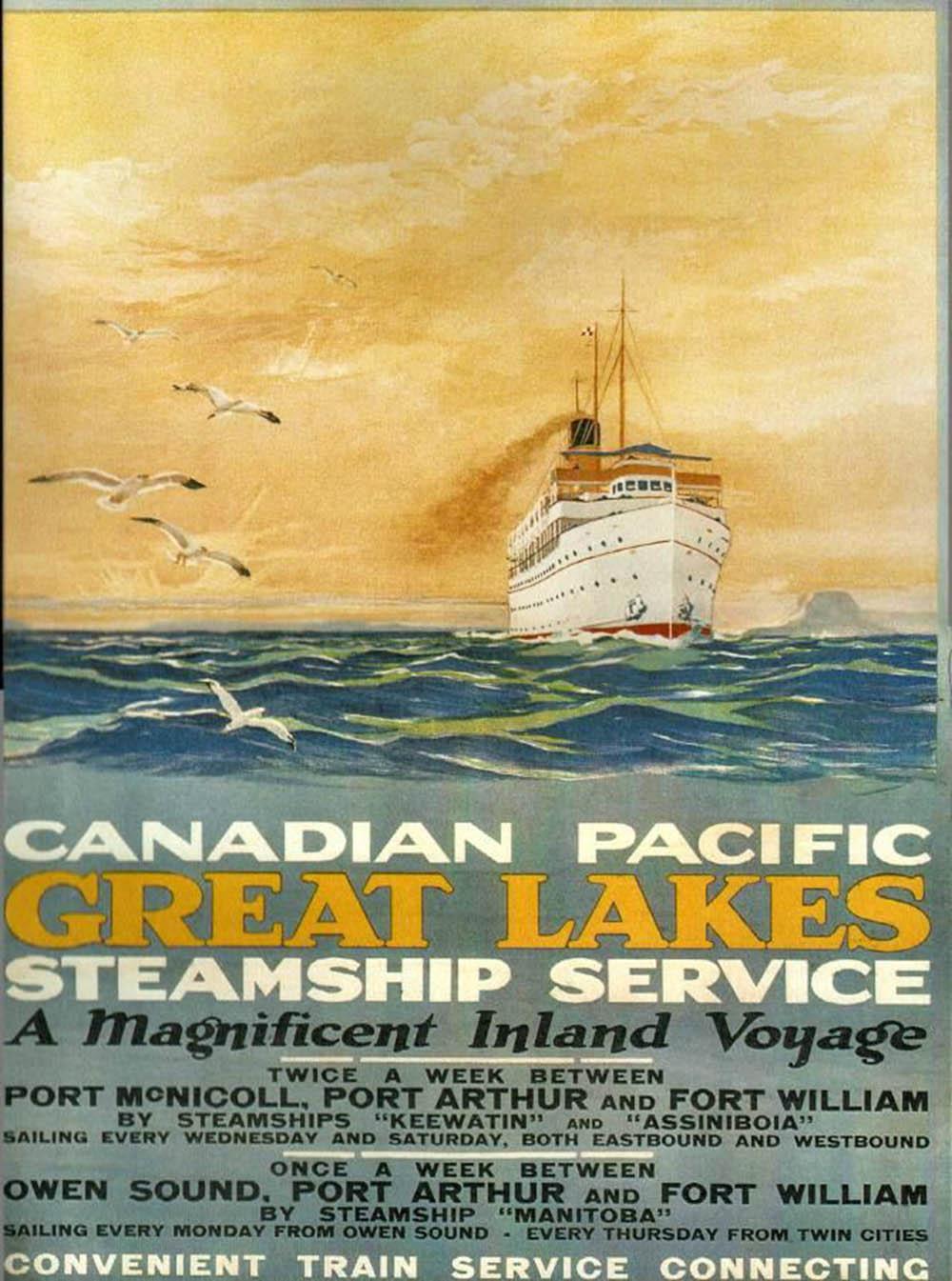 Keewatin cruise poster