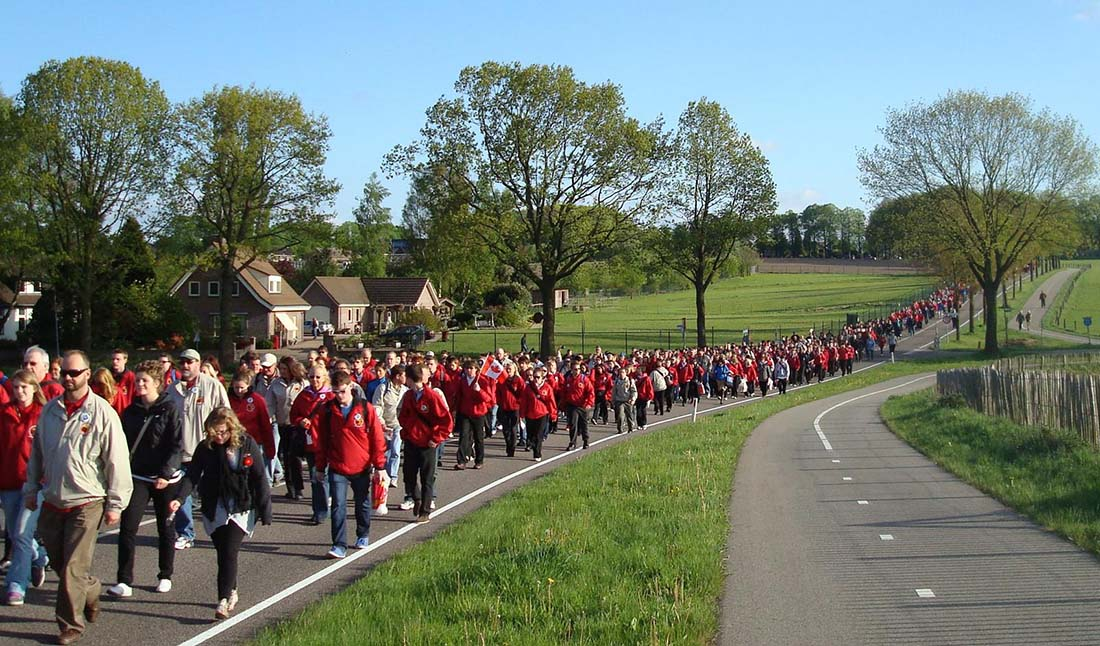 Marchers outside Groesbeek Netherlands - Remembrance Day - A Century of Remembrance in Canada