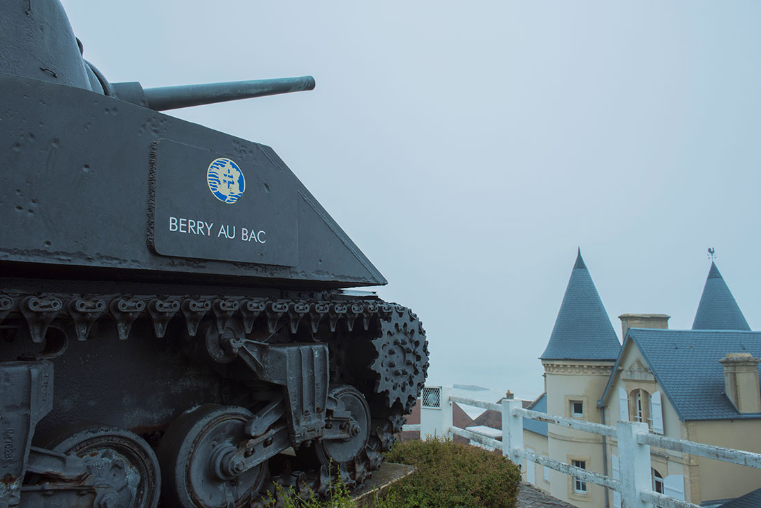 Remembrance Day tank at Arramanches