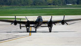 Restored 1945 Lancaster Bomber Flight