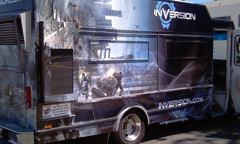 """NAMCO's """"Inversion"""" Food Truck"""