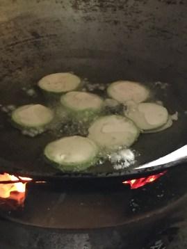 Frying the Aubergine
