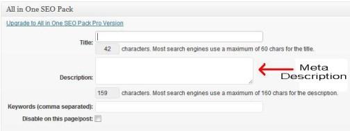 WordPress Post Meta Description
