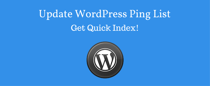 Update WordPress Ping List